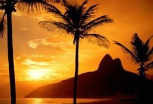 tramonto-rio-de-janeiro brasile, la rotta delle emozioni